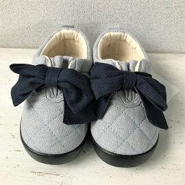 Lapochebiscuitラ・ポシェ・ビスキュイリボン付きスリッポン女の子キッズ靴宅配便