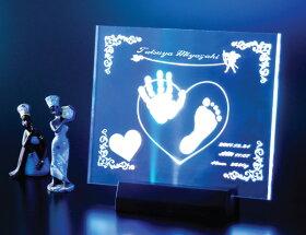 【送料無料】北斗園赤ちゃんの手形足型アクリルLEDライト【smtb-KD】