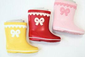 スーリー(おすすめ)りぼん♪レインシューズ日本製(長靴)(13cm、14cm、15cm、16cm、17cm、18cm、19cm)