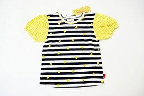 (サマーセール定価1900円+税をSALE)Youpi!(キムラタン)ユッピーリンゴいっぱいボーダー♪半袖Tシャツ(90cm、100cm、110cm、120cm、130cm)