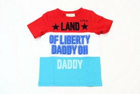 Daddy Oh Daddy(丸高衣料)ダディオダディロゴプリント♪半袖Tシャツ日本製(90cm、100cm、110cm、120cm、130cm)