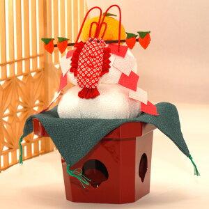 【送料無料】 鏡餅 迎春飾り 正月飾り お正月 福良(ふっくら)三方鏡餅 干支 置物 干支置物 リュウコドウ 龍虎堂 (送料無料は沖縄を除きます)