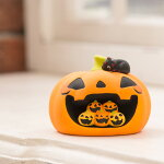 リュウコドウハロウィンパンプキンハウスハロウィン小物オブジェ飾り黒猫グッズかぼちゃおもちゃ