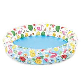 【INTEX】フルーティプール 59421 ツーリングプール フラミンゴ 子供用ビニールプール/ウキワ/水遊び/インテックス