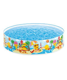 【INTEX】ビーチディズスナップセットプール 58477 子供用ビニールプール/ウキワ/水遊び/インテックス