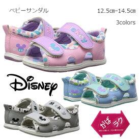 Disney ベビーサンダル サマーサンダル 全3色 がばラク ベビー 男の子 女の子 靴 シューズ ビーチサンダル プール 海水浴 水遊び レジャー