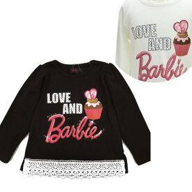 【Barbie/バービー】カップケーキ柄長袖Tシャツ(13603) 100/110/120/130 秋冬子供服/女児子供服/ベビーサイズ/トドラーサイズ/女児長袖/女児上着/  02P03Dec16