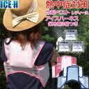 熱中症対策グッズ 冷却ベスト 上位モデル アイスハーネス 保冷剤3個付きセット レディース 女性向きカラー ガーデニン…