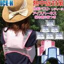 熱中症対策グッズ 冷却ベスト 上位モデル アイスハーネス 保冷剤6個付きセット レディース 女性向きカラー ガーデニン…