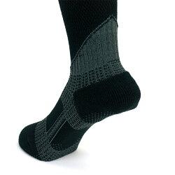 長靴でも脱げない靴下長靴専用ソックス黒(ブラック)メンズレディースくつした/滑り止め/むくみ軽減/疲労軽減/靴擦れ軽減/破れにくい/丈夫/蒸れにくいメッシュ編み/農作業/工事現場/ゴム長靴/(ネコポス便可能・1足まで)