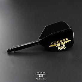 ダーツ フライト ONDOR AXE -コンドル アックス- ロゴ ブラック