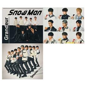 予約【3種セット】Snow Man 3rdシングル Grandeur 3種セット (初回盤A+初回盤B+通常初回仕様) CD+DVD メーカー特典あり