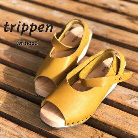 trippen[トリッペン] orinoco [オリノコ] アンクルストラップ ウッドサンダル オープントゥ ウエッジソール olive red forest black