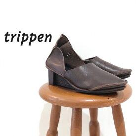 trippen[トリッペン]/OPUS-WAW[オプス] パンプス ヒールシューズ シンプル レディース 靴 レザー 本革 ブラウン