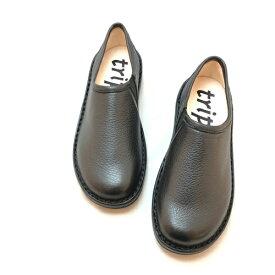 trippen[トリッペン]/YEN-DER[イェン]/BLK-BK スリッポン Closedコレクション シンプル レディース レザー 本革 鹿革 靴 ブラック 黒
