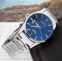 【メール便送料無料】美しい●SWIDUメンズファッション腕時計【ブルー】日付表示/金属ベルト/ビジネス/フォーマル/ス…