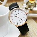 【メール便送料無料】GENEVA★薄型2針・メンズ腕時計【ブラック】ファッションウォッチ/スーツ/カジュアル/フォーマル…