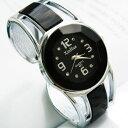 【メール便送料無料】XINHUA・バングル・ドレスブレスレット腕時計【ブラック】レディースファッション/新品予備電池…