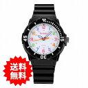【メール便送料無料】キッズ&レディース・ポップカラー・アナログ腕時計【ブラック】シリコンベルト/ウオッチ/かわい…