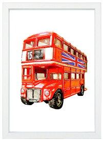 【メール便送料無料】A4ポスター 赤いロンドンバス クラシックカー インテリア/ヨーロッパ/アメリカ/アート/フォト/インテリア/写真/A4サイズ/巣ごもり生活/インスタ映え/インテリア小物/飾り/アート/イラスト/壁飾り/クラッシックカー/バイク