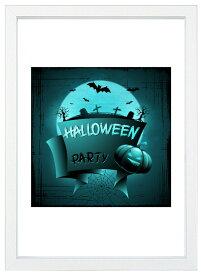 【メール便送料無料】A4ポスター ハロウィーン暗闇のパーティ インテリア/ハロウィン/収穫祭/秋/かぼちゃ/フォト/写真/A4サイズ/インスタグラム/インスタ映え/インテリア小物/飾り/アート/イラスト/壁飾り
