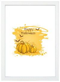 【メール便送料無料】A4ポスター ハロウィーン淡い黄色のかぼちゃ インテリア/ハロウィン/収穫祭/秋/かぼちゃ/フォト/写真/A4サイズ/インスタグラム/インスタ映え/インテリア小物/飾り/アート/イラスト/壁飾り