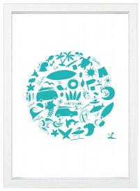 【メール便送料無料】★エメラルドグリーンのオブジェ★A4ポスター/写真/インテリア/フォト/サーフィン/西海岸/南国/トロピカル/ハワイ/インテリア/写真/A4サイズ/インスタグラム/インスタ映え/インテリア小物/飾り/アート/イラスト
