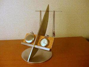 懐中時計 スタンド ダブル懐中時計ディスプレイスタンド