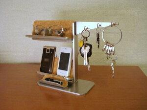 プレゼントに アクセサリースタンド キー・メガネ・携帯電話スタンド 小物トレイ付き