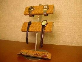 時計スタンド 腕時計 スタンド 2本用 誕生日プレゼント ノベルティー ウォッチスタンド ケース 時計置き 時計ケース ディスプレイスタンド ギフト 贈り物 時計 飾る 腕時計 収納 アクセサリー スタンド 腕時計 革バンド&メタルバンド4本掛けトレイ付き腕時計スタンド