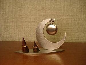 懐中時計スタンド 三日月インテリア懐中時計、ダブルリングスタンド CK12