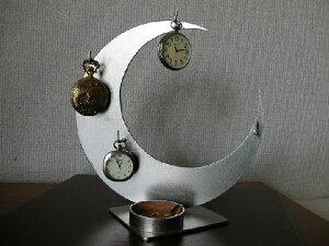 懐中時計 ラック 4本掛け懐中時計スタンド丸トレイ CK15