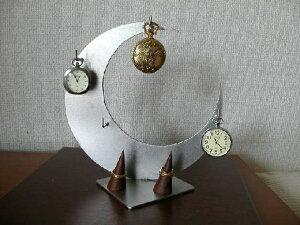 懐中時計 BOX 三日月4本掛け懐中時計スタンド ダブル指輪スタンド CK18