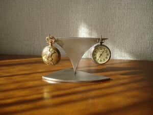 誕生日プレゼントに 2本掛けステンレス製懐中時計スタンド CK28