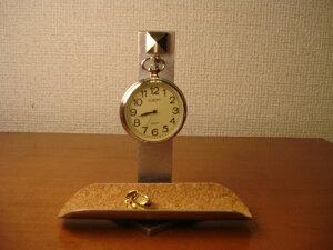 懐中時計 収納スタンド モチーフ付き懐中時計飾り台 トレイ付き CK51