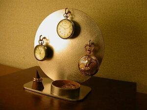 懐中時計 スタンド 3本掛け懐中時計スタンド リングスタンド、指輪スタンド KD354
