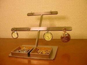 懐中時計 飾る 6本掛けダブルデカイトレイ懐中時計スタンド DK444