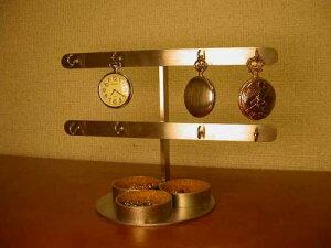 懐中時計 スタンド 8本掛け懐中時計トレイ付きスタンド KT451