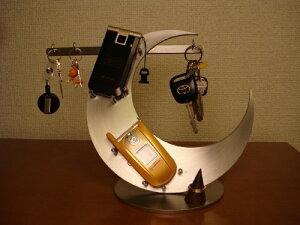 誕生日に キースタンド 三日月携帯、キーホルダー、リング飾り台スタンド KTR11