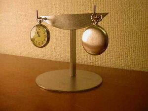 懐中時計 スタンド 2本掛けインテリアディスプレイ懐中時計スタンド
