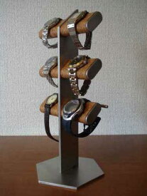 クリスマス 時計スタンド 腕時計 スタンド 誕生日プレゼント 新婚祝い 時計 スタンド ウォッチスタンド クリスマス ハロウイン 腕時計ラック 腕時計収納 腕時計飾る 腕時計を飾る アクセサリースタンド 6本掛け腕時計&革バンド時計タワースタンド WSD77