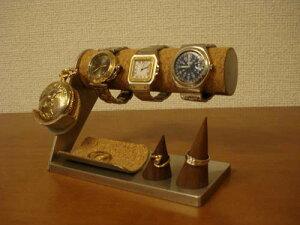 父の日プレゼント 送料無料腕時計、懐中時計、ダブルリングトレイスタンド WK89