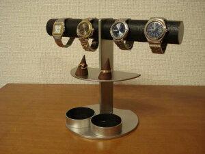 プレゼントに 時計スタンド 送料無料ブラックアクセサリースタンド BAS1