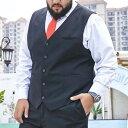 ジレベスト フォーマル 大きいサイズ メンズ 無地 前開き スーツ ビジネス 男性 礼服 定番 格好いい 紳士的 結婚式 冠…