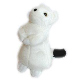動物 (アニマル) ぬいぐるみ おこじょ 白 大サイズ   オコジョ 縫いぐるみ ヌイグルミ どうぶつ 野生動物