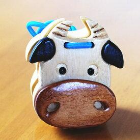 木のおもちゃ 木製 カスタネット うし