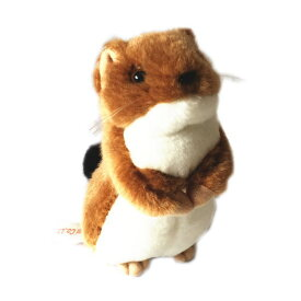 動物 (アニマル) ぬいぐるみ おこじょ 茶 小サイズ  オコジョ 野生動物 縫いぐるみ ヌイグルミ どうぶつ