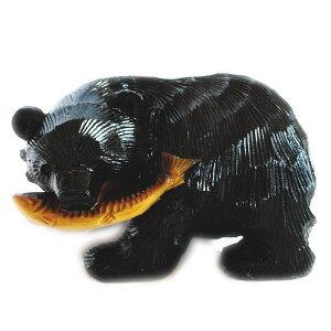 送料無料 貯金箱 鮭食い熊