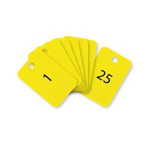 オープン工業 BF-54-YE スチロール番号札 四角 1〜25 黄 BF54YE