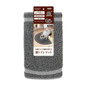 ペティオ 4903588251023 necoco 猫トイレマット グレー W25102